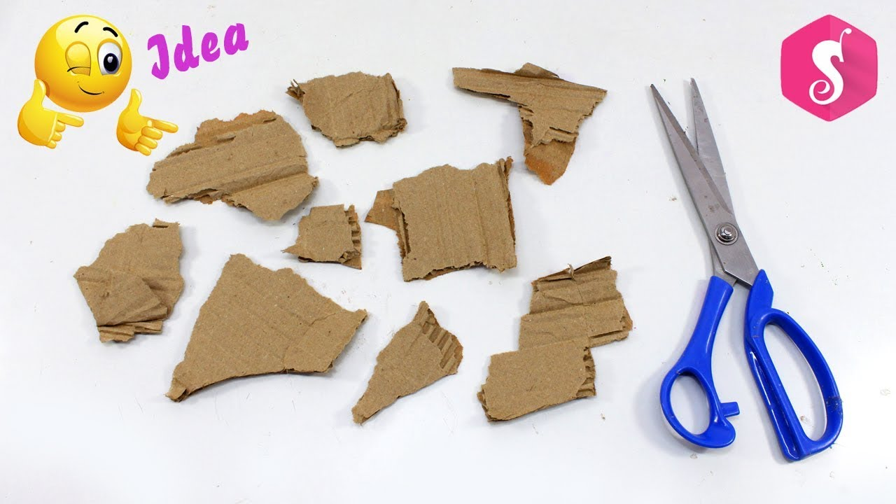 DIY Cardboard Craft Idea / Easy Crafting for Home Decor / Sonali ...