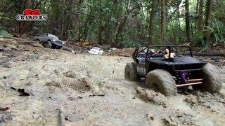 Mudding! 10 Rc Trucks Scale 4x4 Offroad Adventures Mud Water River Crossing Subzero Scx10 Tf2 D90