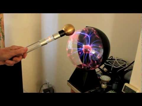 Tesla spiral coil, plasma globe and coil electricity detector