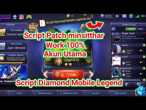 Script Diamond Mobile Legend Patch minsitthar