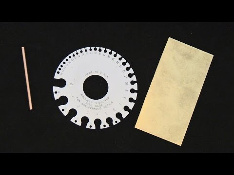 How To Use A Gauge Wheel To Measure Wire And Sheet Metal