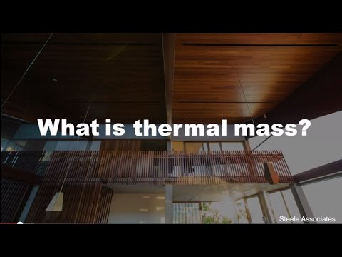 Passive Solar Design - What is thermal mass?