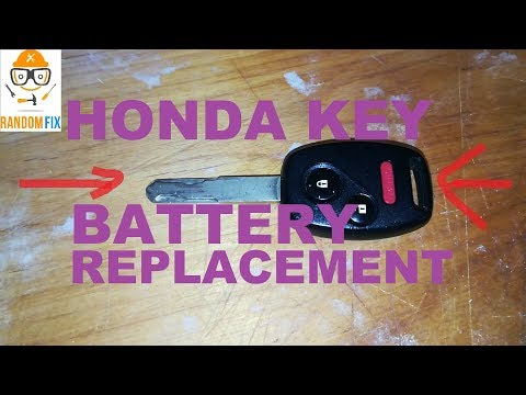 HOW TO REPLACE HONDA CIVIC INSIGHT KEY FOB BATTERY, HONDA KEY BATTERY REPLACEMENT