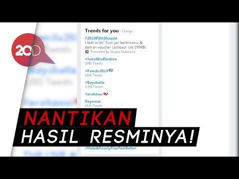 #JokoWinElection Trending Topic di Twitter