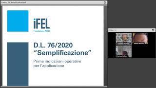 08/09/2020 - D.L. 76/2020 Semplificazioni. Prime Indicazioni Operative Per L'applicazione