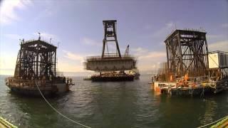Construction of longest suspension bridge in Turkey