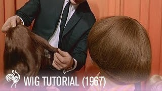 Wig Fashions and Wig Tutorial by Ramon French - (1960s Fashion Footage)