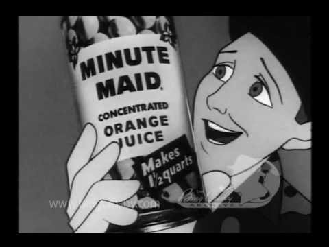 bing crosby animated minute maid spot 1954