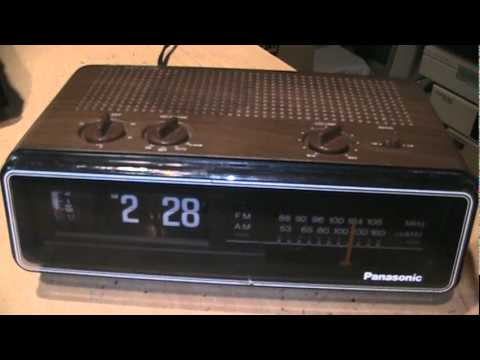 1970s Panasonic Flip Clock Radio With Hi Fi Am Youtube