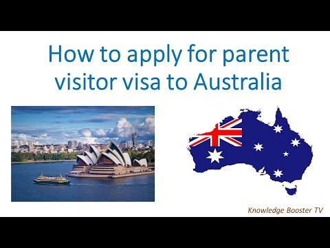 Parent Visitor Visa Australia - Application Process