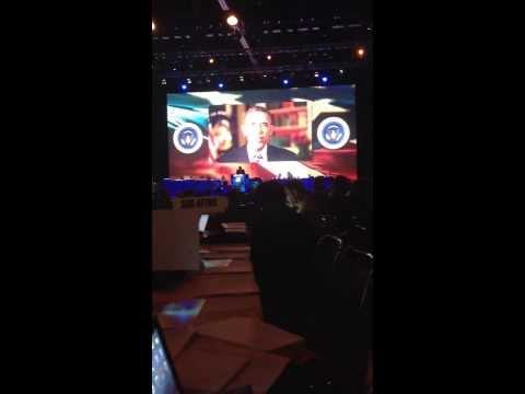 President Obama addresses #aflcio13 - Syria keeping him in DC.