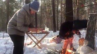 лес февраль шашлык