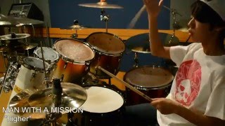 Joe、中学2年生です。(14years old)。MAN WITH A MISSION の 「higher...