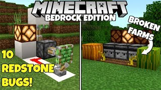 These 10 REDSTONE Bugs Ruin Farms And Contraptions In Minecraft Bedrock Edition!