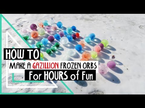 how to make frozen orb frozen water balloons youtube