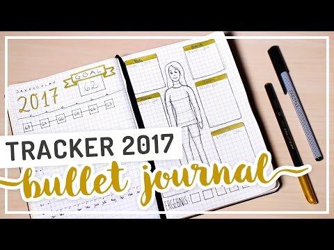 Bullet Journal FITNESS HABIT TRACKER als Jahresplan #TypischSissi