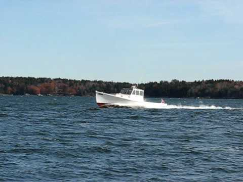 Lowell Boats - 35' Osprey - Maine wooden lobster boat ...