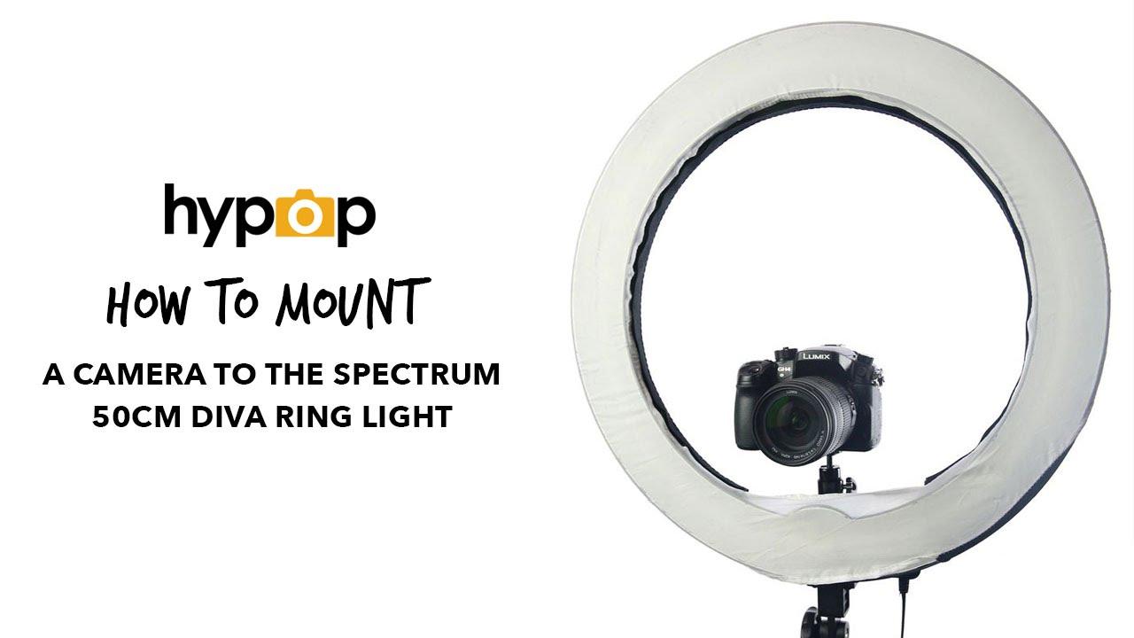Stellar Led Diva Ll Ring Light: How To Mount A Camera Onto A Diva Ring Light