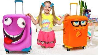 Милли, Настя и папа собираются в путешествие на летние каникулы