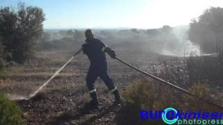 Μαίνεται η πυρκαγιά στα Καλύβια-Τεράστιες δυνάμεις στην Αθηνών-Σουνίου
