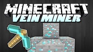 minecraft Mods  VEIN MINER MOD (Mine 100s of blocks at once!)  Mod Showcase