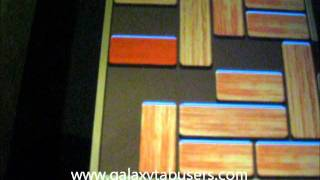 Galaxy tab games. Android puzzle game Unblock me plus
