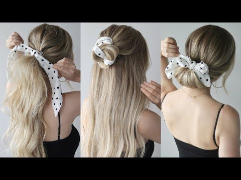 EASY SUMMER HAIRSTYLES WITH A SCARF - YouTube