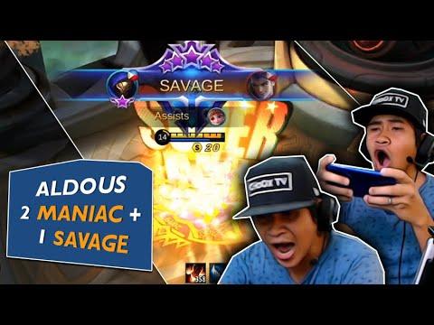 Swerte ng Aldous Ko! Naka 2 Maniac + 1 Savage!