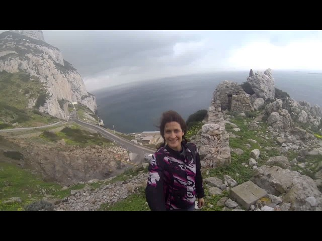 Alaska Moto Girl goes to Gibraltar