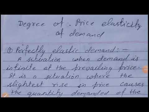 Class 12 Economics Degree Of Elasticity Of Demand Youtube