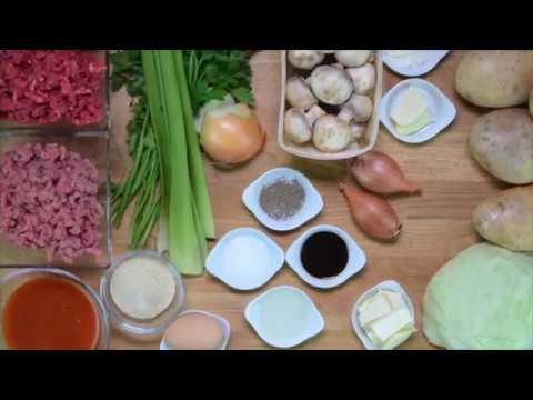 pain-de-viande,-stoemp-de-pommes-de-terre-et-chou-vert,-sauce-champignons
