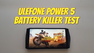 Ulefone Power 5 Battery killer test gaming PUBG! Longest Screen on time gaming in the world! Phone