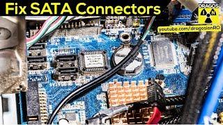 Broken SATA Connector on Motherboard Fixed!
