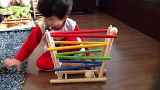 Moksh Plays With Click Clack Roller Toy By Plan Toys: Eye Tracking Activity 2