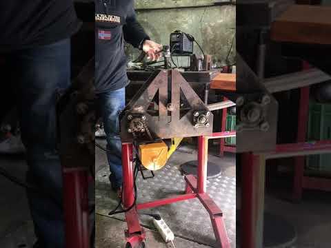 Как сделать электрический трубогиб из ручного? Мини таль + ручной трубогиб.