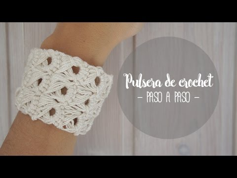 5c9705806170 Pulsera de crochet paso a paso - YouTube