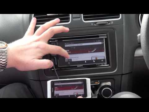 Sony XAV-601BT shows off MirrorLink technology