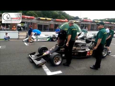 Formula 1 Gridwalk & Interview with Classic Team Lotus Works Driver Greg Thornton