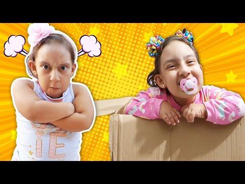 Maria Clara em uma história engraçada de uma nova irmã BEBÊ encontrada na caixa - MC Divertida
