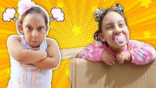 Maria Clara em uma história engraçada de uma nova irmã BEBÊ ADOTADA - MC Divertida