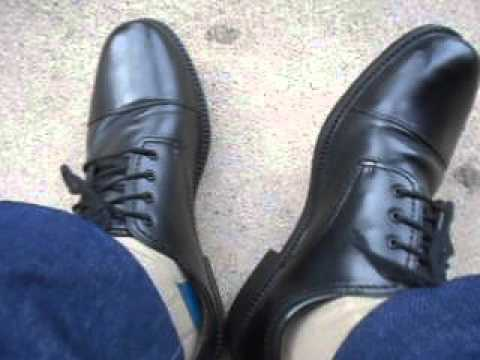 Showing off my Dockers Gordon cap-toe shoes - YouTube 43db274a5928