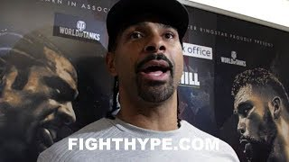 DAVID HAYE WARNS TONY BELLEW IT'S MORE THAN JUST REVENGE; REVEALS STATEMENT HE WANTS TO SEND