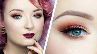 Glamour krok po kroku ♡ Makijaż w ciepłych barwach ♡ Red Lipstick Monster ♡