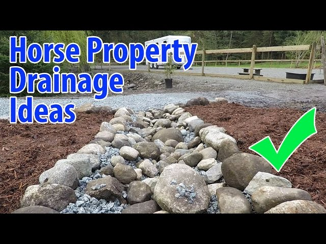 Horse Property Drainage Ideas