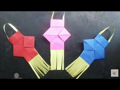 How to make Kandil/making Paper Kandil For Diwali Decoration /DIY Kandil/