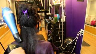 The Blow Dry Technique for Natural Hair