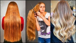 Top 10 Best Long Hair Cut Transformation. Long Hair Cut Color Tutorials Compilation