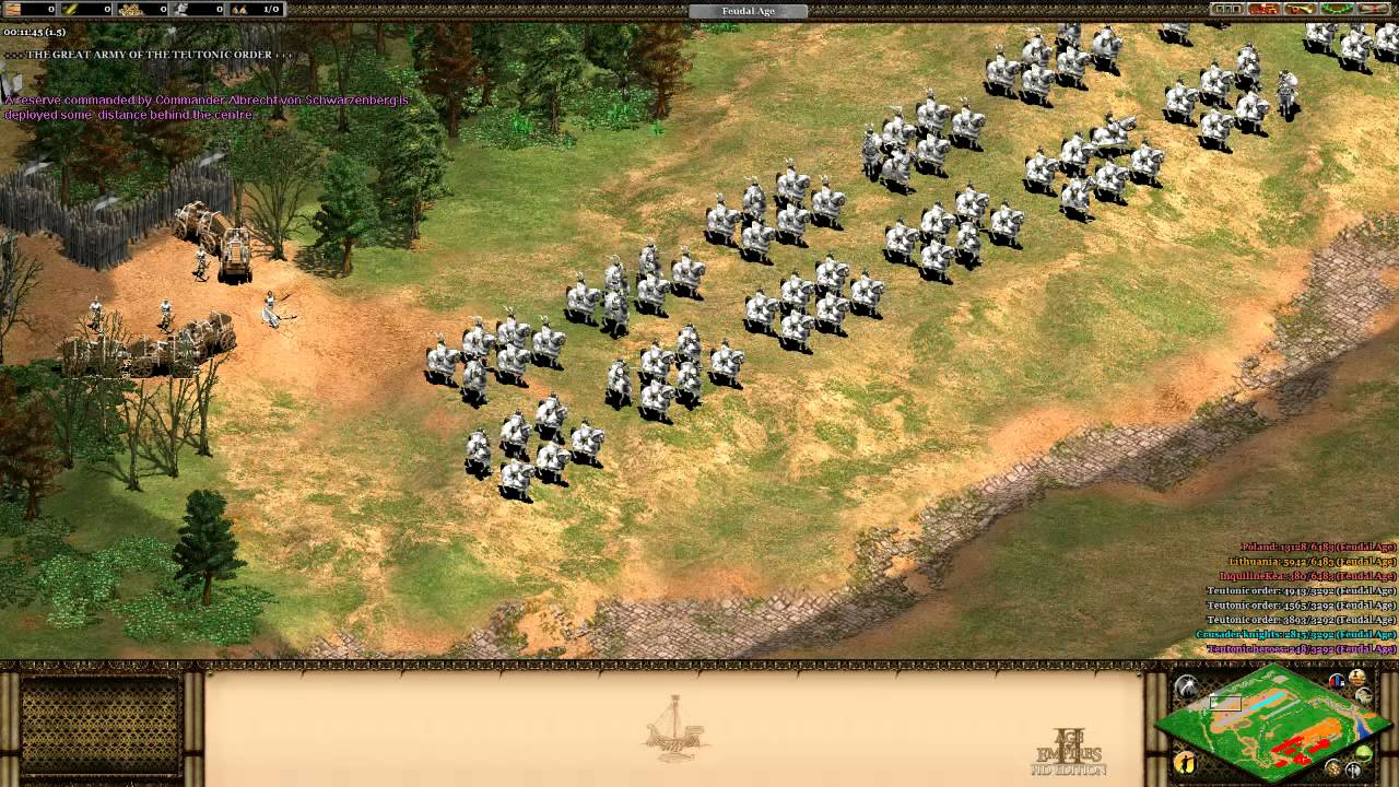 Age Of Empires 2 >> Battle of Tannenberg (Age of Empires II) - YouTube
