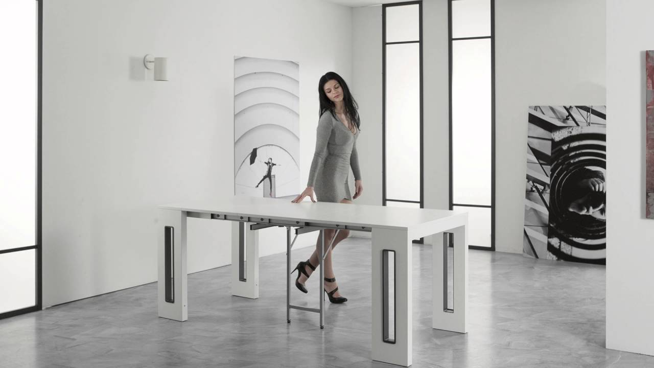 Tavolo Consolle Allungabile NANO  Extendable Console Table NANO by Easyline  YouTube