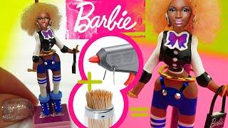 Super Realistic Miniature Barbie Doll from Toothpicks!